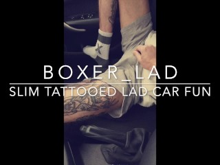 Horny Car Fun With Tattooed Lad