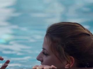 ULTRAFILMS PROMO Beautiful Virginie is fucked hard outdoor next to the pool on the luxury Ibiza villa