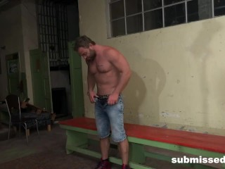 Muscular Slave Fucked in the Ass
