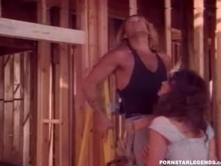Pornstar Legend Ashlyn Gere Hard Fuck Threesome As She Sucks And Fucks Construction Guys