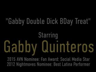 Mexican Milf Gabby Quinteros Takes 2 Big Fat Dicks In Her Bushy Burrito!