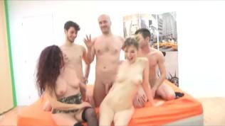 Teen Denise, Mature Zazel and several older dudes!