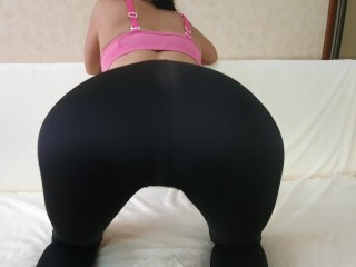 Horny Fitness Model with Anal Plug in ass and Big Tits made me Cum