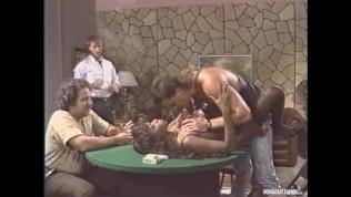 Classic Pornstar Domonique Simone Gets Pounded By 4 Legends Randy West, Steve Drake, Derek Lane and