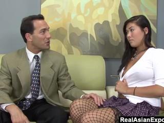 Asian Hottie London Keyes Fucks Her Teacher Hardly