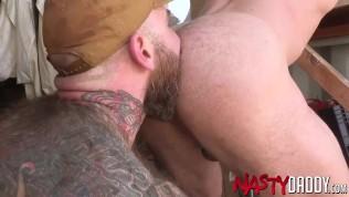 Bearded Daddy Raw Fucks Muscular Bottom