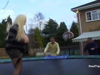 Big boobed blonde slut gets a seeing too from Marino and Pascal