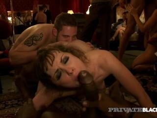 Privateblack – Hot Orgy! Wild Hardcore Voyeur Live Sex Party Heats Up!