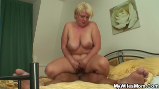 Old bitch rides son-in-law's young cock