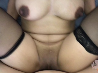 Thai slut with fantastic knockers She loves to cum two times (เจ๊เสียว2น้ำ)