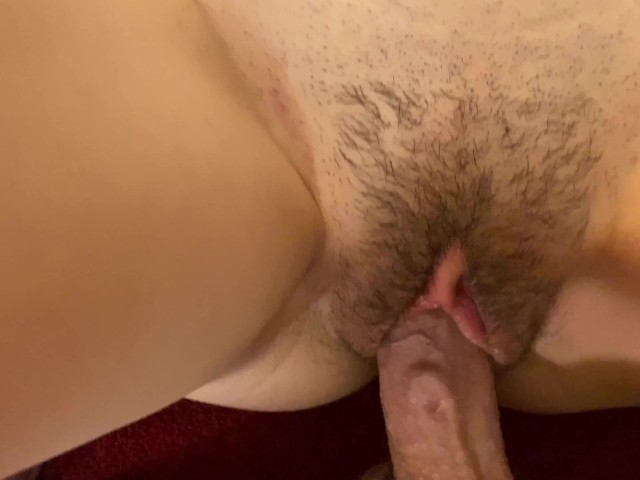Hairy Pussy Sliding Cock