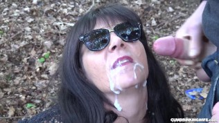 Watch me swallowing cum from many men