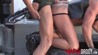 Outdoor Raw Sex With Hairy Mature Men
