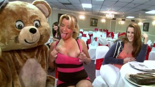 DANCINGBEAR – Horny Cock Hungry Hoes Lined Up To Sample Penis