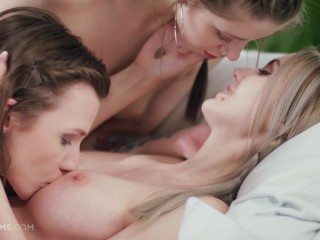 ULTRAFILMS LEGENDARY Sia Siberia, Nelya & Leah Maus in incredibly hot, passionately slow lesbian 3some