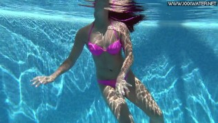 Underwater stripping and seducing by Jessica ▶5:18