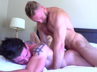 Robbie And Veronica Take Every Inch Of Burly Bryce's Long Dick!