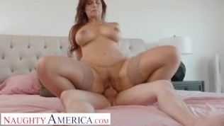 Naughty America - Syren De Mer lets Alex know how much she loves younger men by sucking his cock