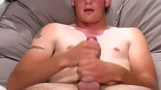 Big dicked amateur jerks off cock solo