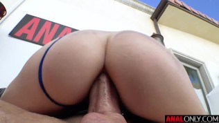 ANAL ONLY Tiny blonde Chloe Cherry has her ass drilled and filled up with cum