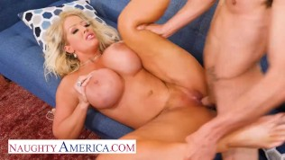 Naughty America - Alura Jenson takes her anger out on some cock