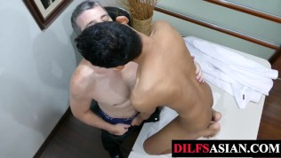 Porn Gay XXX  Mature daddy barebacking asian amateur in the office