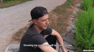 Porn Gay XXX  CZECH HUNTER 552 – Twink Patrick Is Hesitant To Get That Big Dick In His Ass But When He Sees The Money He Gives In