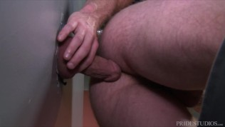 Guy In Bathroom Finds Some Ass To Fuck