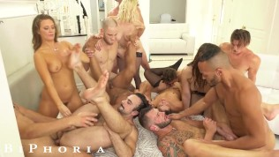 Husband Tastes His First Dick At Bisexual Orgy - BiPhoria