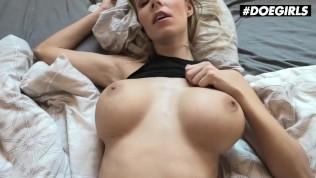DoeGirls – Florane Russell Busty Czech MILF Homemade Sex Tape With Her Big Dick Boyfriend