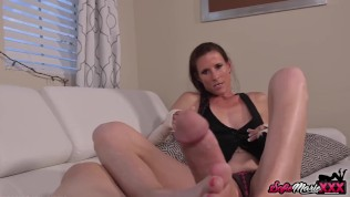 Cougar Uses Feet To Jerk Off Lovers Dick