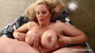 Jizz On My Tits! Busty Dick Milking Julia Ann Drains That Throbbing Dick!
