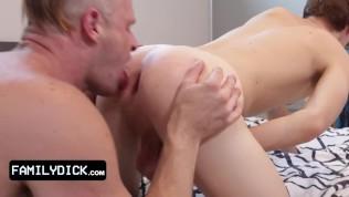 Naughty School Boy Gets Disciplined By His Step Daddy And Makes Him Gag On His Hard Manhood